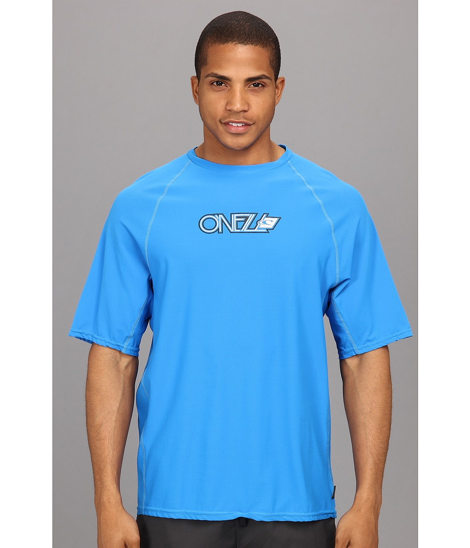 O'Neill - 24-7 Tech S/S Crew (Brite Blue) Men's Swimwear