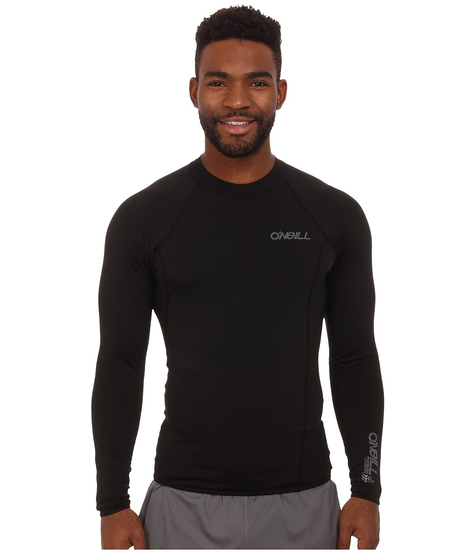 O'Neill - Thermo L/S Crew (Black/Black/Black) Men's Swimwear