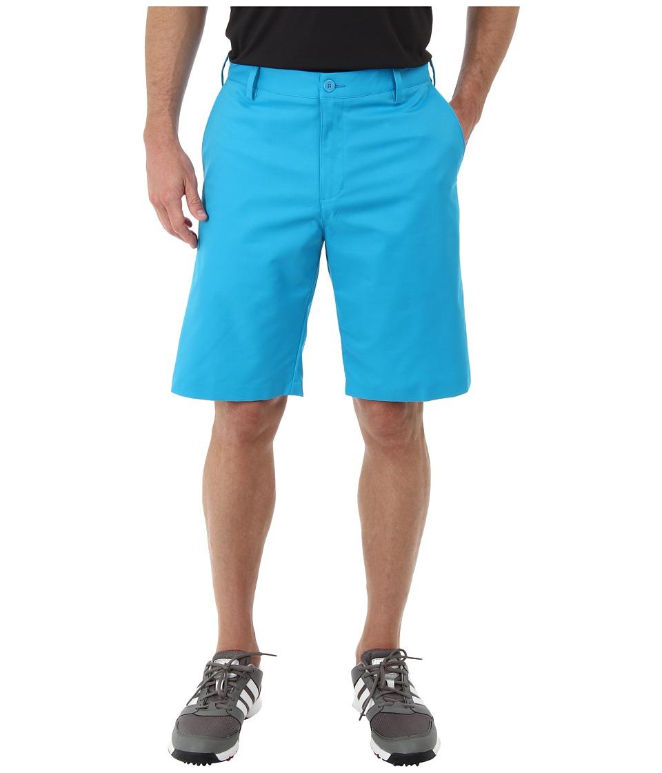 adidas Golf - Flat Front Tech Short '16 (Solar Blue/White) Men's Shorts