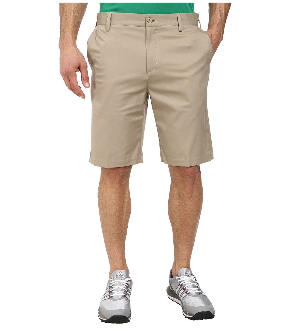 adidas Golf - Flat Front Tech Short '16 (Khaki/Lead) Men's Shorts