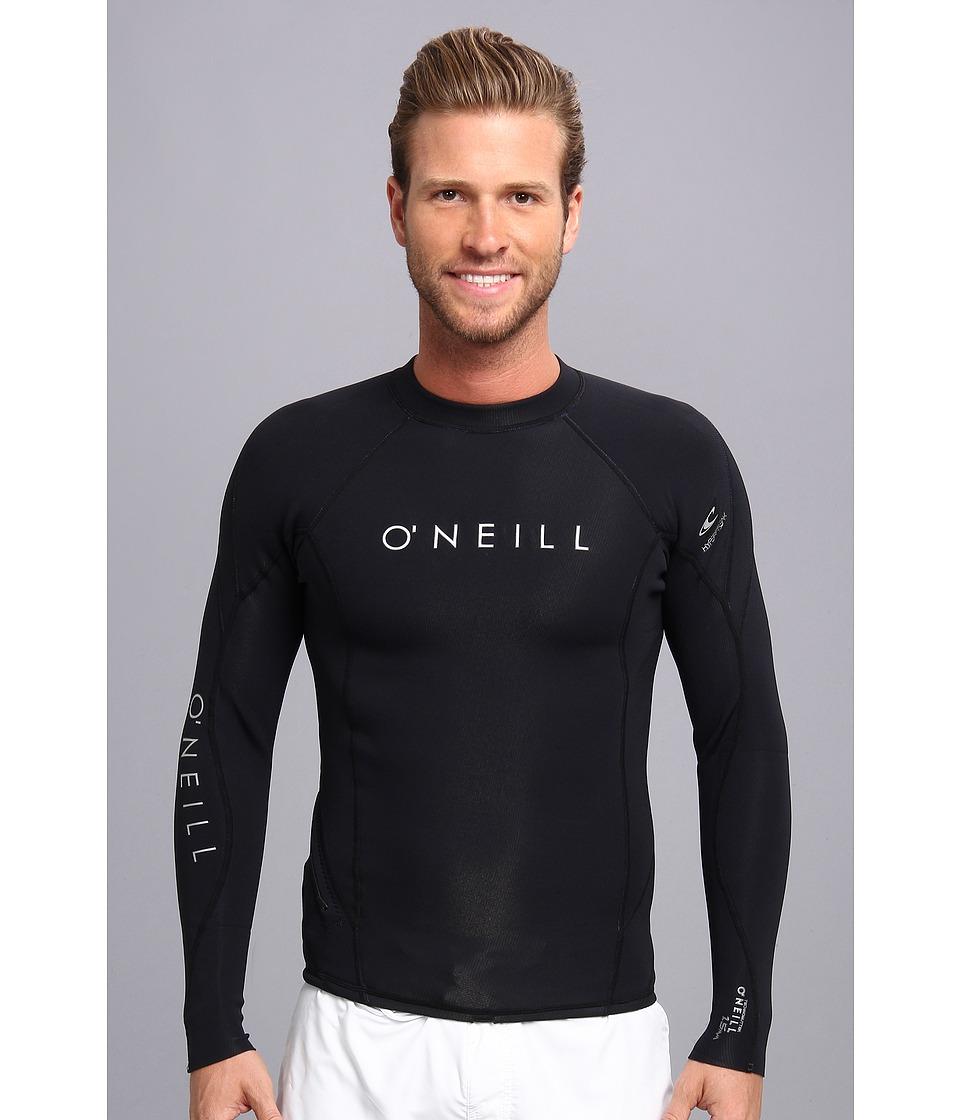O'Neill - Hyperfreak 1.5MM L/S Crew (Black/Black/Black) Men's Swimwear
