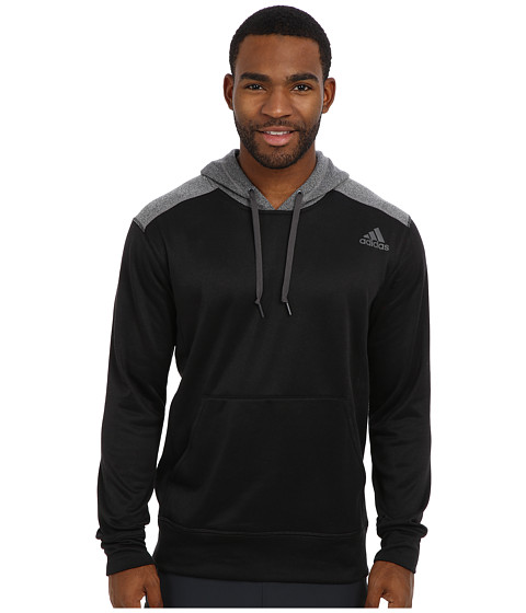 adidas - Ultimate Fleece Pullover Hoodie (Black/DGH Solid Grey) Men's Fleece