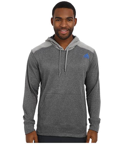 adidas - Ultimate Fleece Pullover Hoodie (DGH Solid Grey/Solid Grey Heather) Men