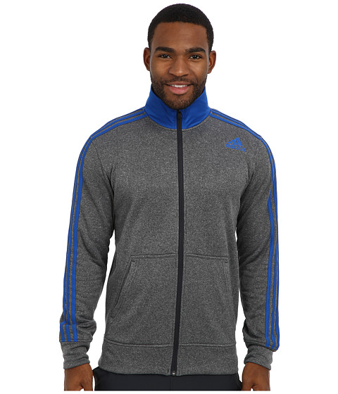 adidas - Ultimate Fleece Track Jacket (Night Grey/Blue Beauty) Men