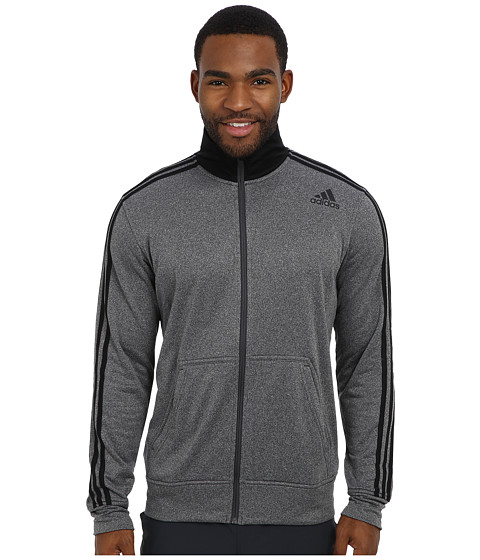 adidas - Ultimate Fleece Track Jacket (DGH Solid Grey/Black) Men's Coat