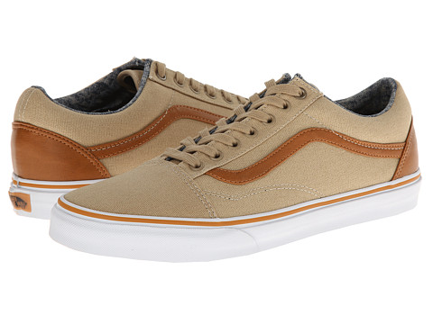 Vans - Old Skool ((C&L) Khaki/Washed) Skate Shoes