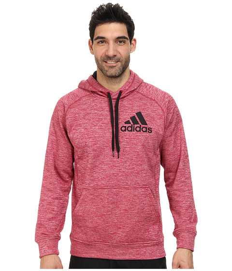 adidas - Team Issue Pullover Hoodie (Light Scarlet/Colored Heather/Blue) Men