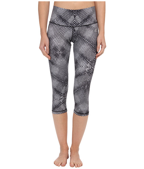 adidas - Performer Mid-Rise Energy Print Three-Quarter Tight (White/Black) Women's Capri