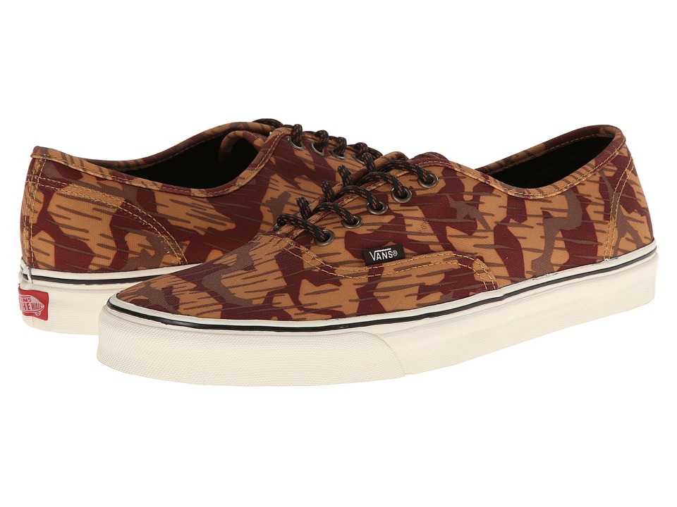 Vans - Authentic ((Waxed) Geo Camo) Skate Shoes