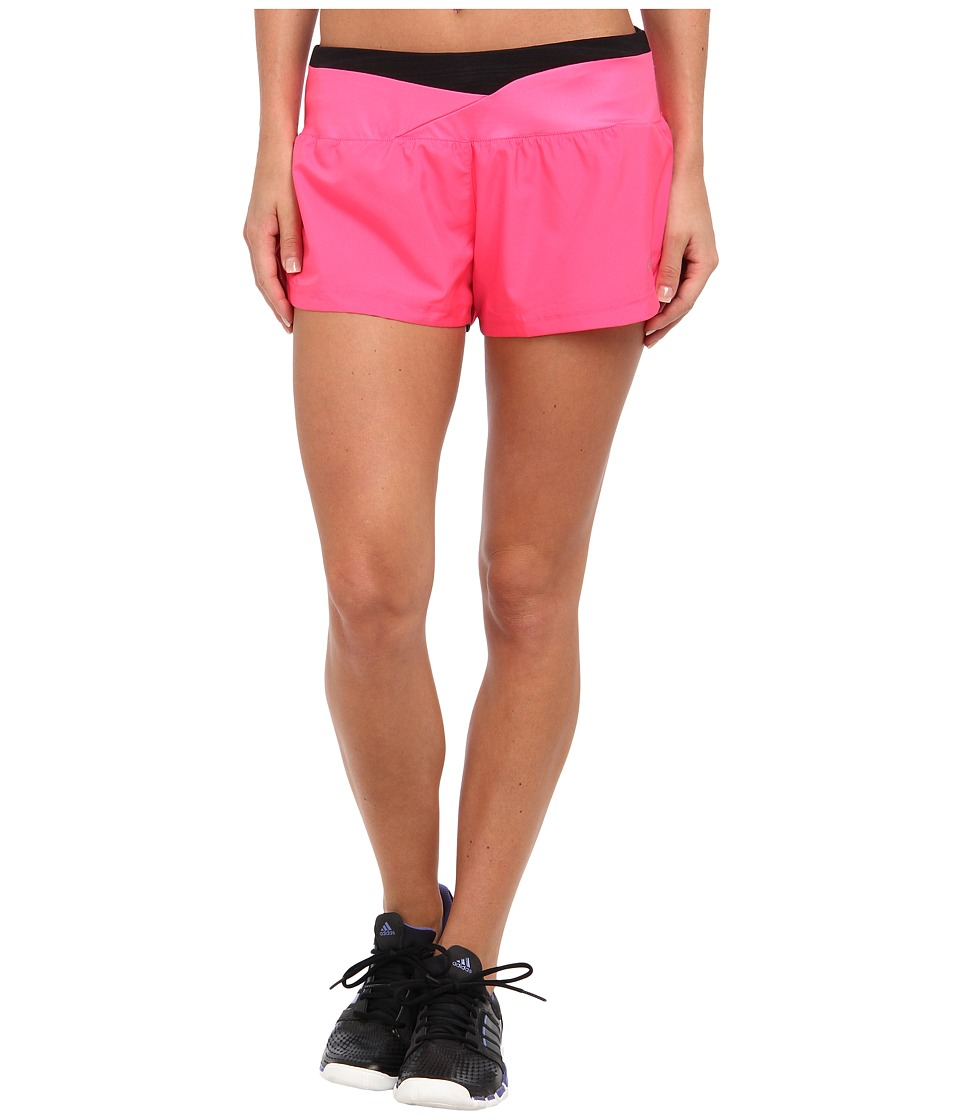 adidas - Supernova 2.5 Glide Short (Neon Pink/Black) Women
