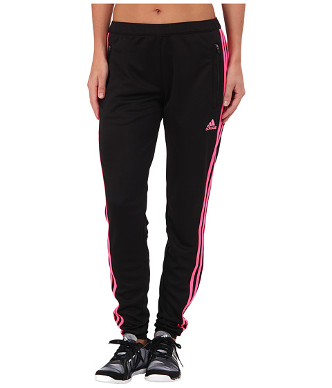 adidas - Tiro 13 Training Pant (Black/Solar Pink) Women's Workout