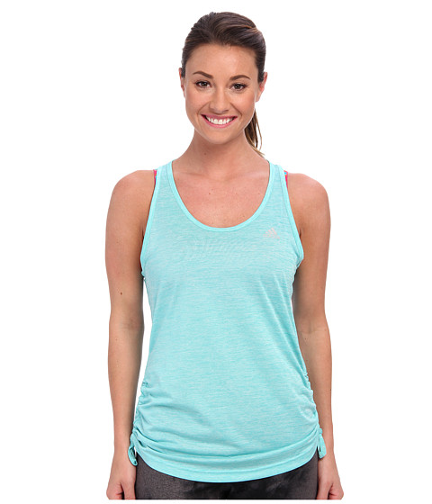 adidas - Twist Scrunch Tank Top (Vivid Mint/Black) Women