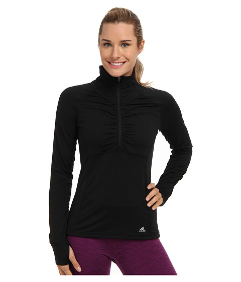 adidas - Ultimate Half-Zip Jacket (Black/Matte Silver) Women
