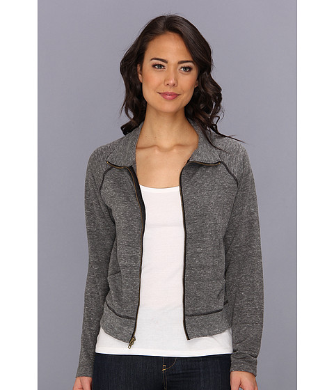 Free People - MVP Track Jacket (Charcoal) Women