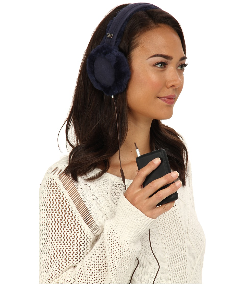 UGG - Classic Earmuff with Speaker Technology (Peacoat) Cold Weather Hats