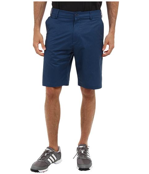 adidas Golf - Broken Pinstripe Short (Rich Blue/Vista Blue) Men