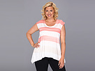 DKNY Jeans Plus Size Painted Stripe Tee