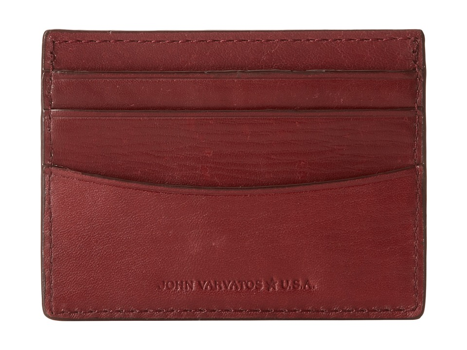 John Varvatos - Credit Card Case 4450246 (Red) Bill-fold Wallet