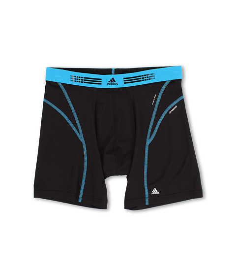 adidas - Sport Performance Flex360 Boxer Brief (Black/Solar Blue) Men's Underwear