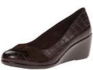 VIONIC with Orthaheel Technology Lena Mid Wedge Pump (Brown Crocodile)