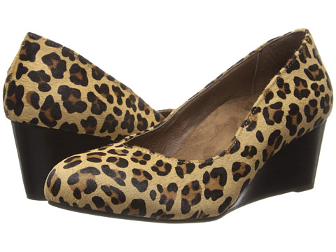 VIONIC - Antonia Mid Wedge Pump (Tan Leopard) Women