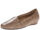 VIONIC with Orthaheel Technology Dolores Low Wedge Pump (Taupe Crocodile)