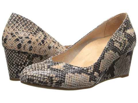 VIONIC - Antonia Mid Wedge Pump (Natural Snake) Women's Shoes