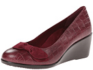 VIONIC with Orthaheel Technology Lena Mid Wedge Pump (Merlot Crocodile)