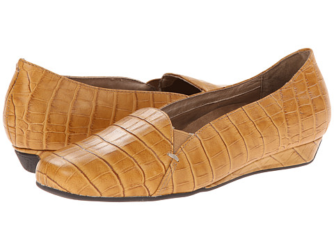 VIONIC with Orthaheel Technology - Dolores Low Wedge Pump (Tan Crocodile) Women's Shoes