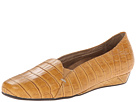 VIONIC with Orthaheel Technology Dolores Low Wedge Pump (Tan Crocodile)