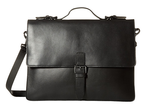 John Varvatos - Hallowell Brief (Black) Briefcase Bags