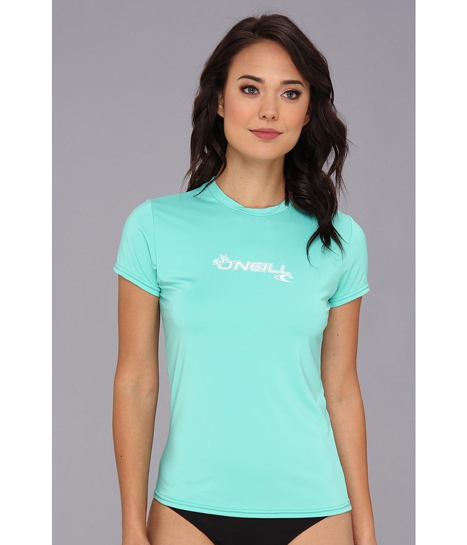 O'Neill - Basic Skins S/S Rash Tee (Light Aqua) Women's Swimwear