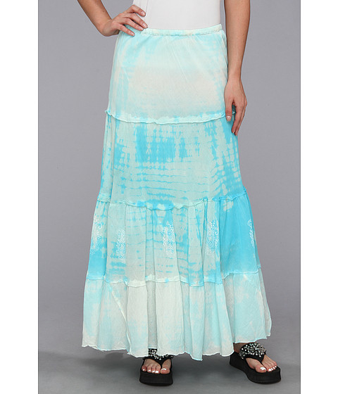Scully - Cantina Summer Winds Tie Dye Skirt (Turqoise) Women