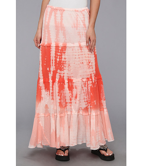 Scully - Cantina Summer Winds Tie Dye Skirt (Coral) Women
