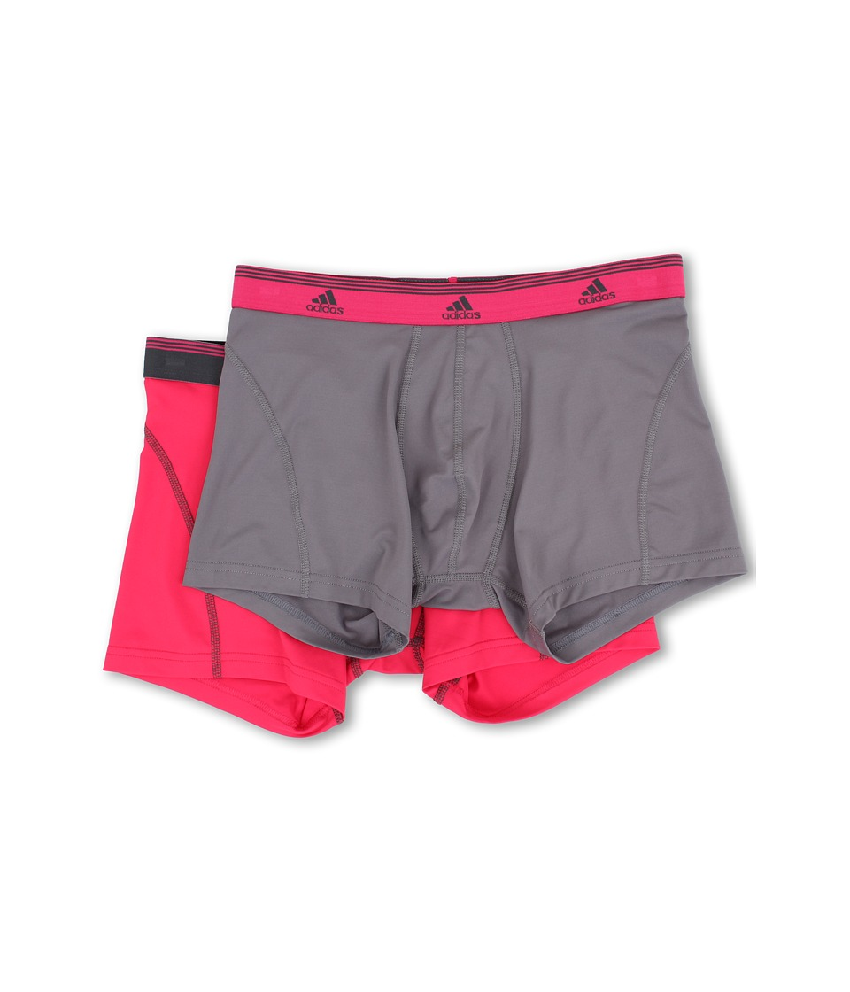 adidas - Sport Performance ClimaLite 2-Pack Trunk (Thunder/Vivid Berry/Vivid Berry/Thunder) Men's Underwear