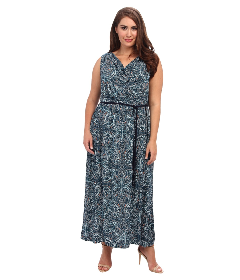 NIC+ZOE - Plus Size Pop of Paisley Maxi Dress (Multi) Women's Dress