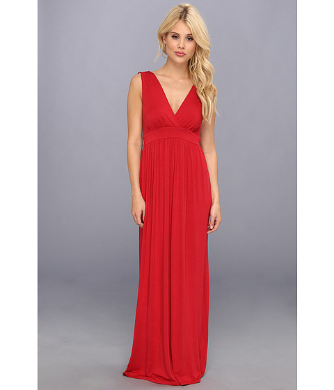 Christin Michaels - Sara Tie Shoulder Maxi Dress (Dark Red) Women's Dress