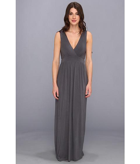 Christin Michaels - Sara Tie Shoulder Maxi Dress (Charcoal) Women's Dress