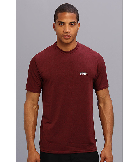 O'Neill - Skins S/S Graphic Rash Tee (Dark Red/Dark Red) Men's Swimwear