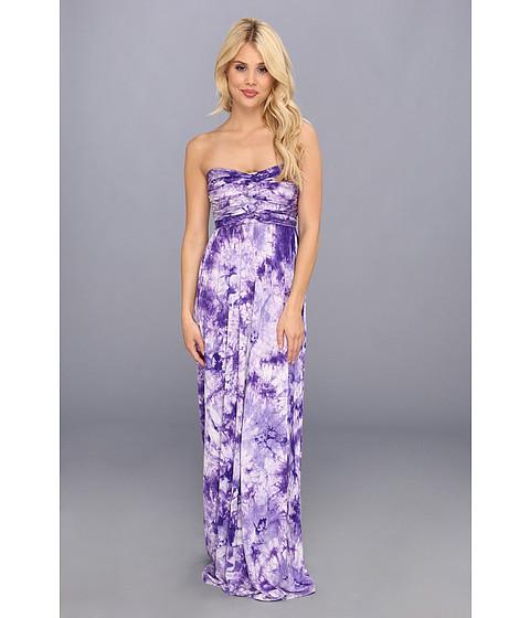 Culture Phit - Liliana Maxi Dress (Purple Tye Dye) Women's Dress