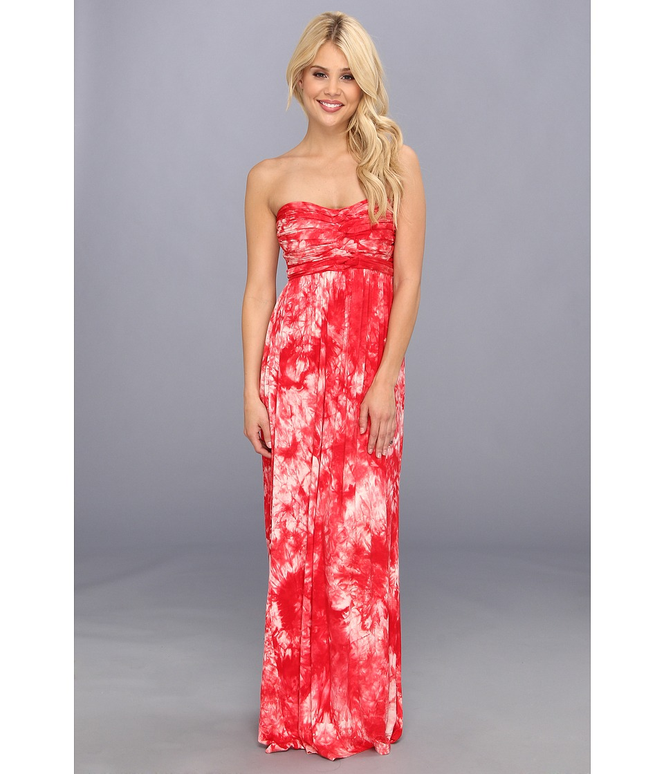 Culture Phit - Liliana Maxi Dress (Coral Tye Dye) Women's Dress