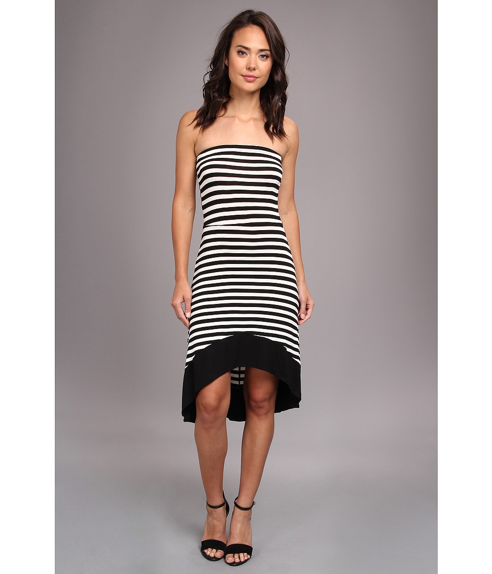 Gabriella Rocha - Strapless Hi-Low Dress (Black/White) Women's Dress