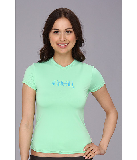 O'Neill - Skins S/S Rash Tee (Mint) Women's Swimwear