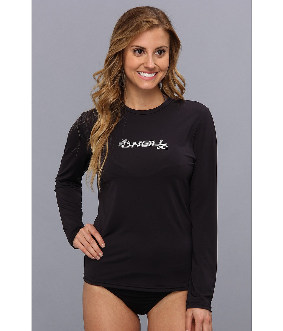 O'Neill - Basic Skins L/S Rash Tee (Black) Women's Swimwear