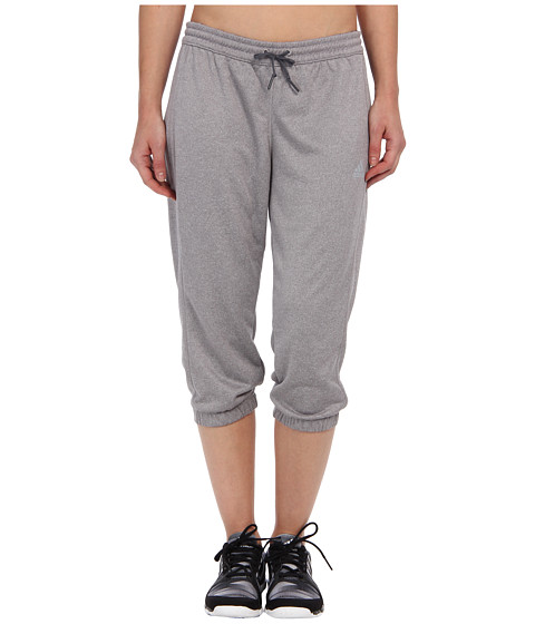 adidas - Boyfriend Terry Capri (LIght Onix Heahter/Dark Grey) Women