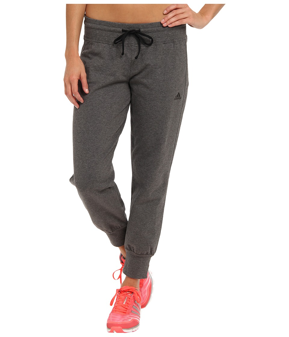 adidas - Boyfriend 7/8 Pant (Dark Grey Heather/Black) Women's Casual Pants