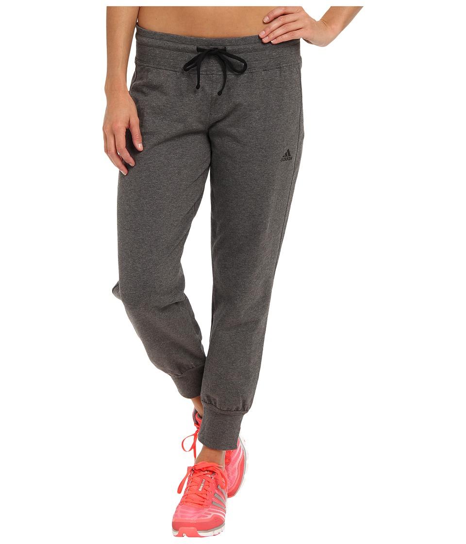 adidas - Boyfriend 7/8 Pant (Dark Grey Heather/Black) Women