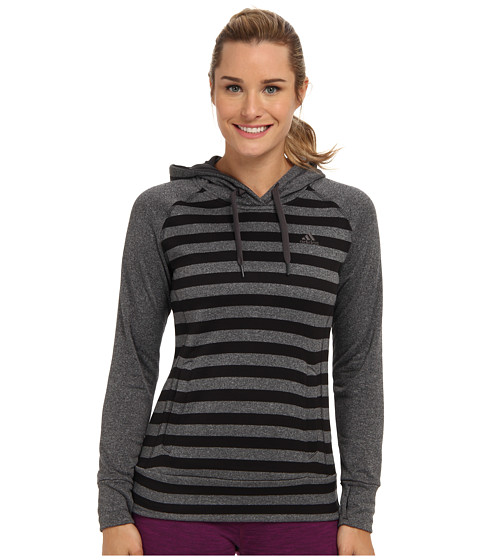 adidas - Ultimate Pullover Hoodie (Black/Dark Grey) Women's Sweatshirt