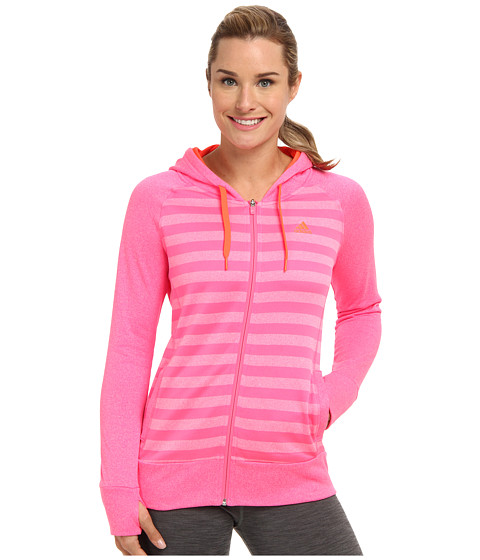 adidas - Ultimate Full-Zip Hoodie (Solar Pink/Solar Red) Women's Jacket