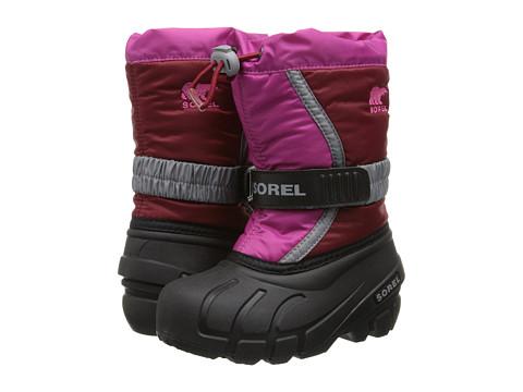 SOREL Kids - Flurry TP (Toddler/Little Kid/Big Kid) (Red Dahlia/Glamour) Girls Shoes